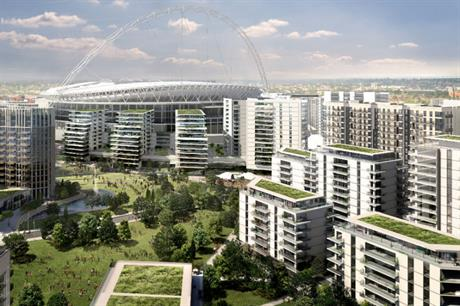 The Wembley Park masterplan includes 4,850 homes, other uses and green spaces