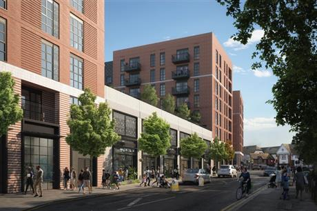 The design for the West Byfleet scheme has retirement homes above commercial units (PIC Pixel Flakes)