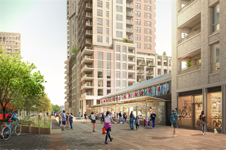Woolwich's regeneration will see its covered market converted to a cinema and 800 homes delivered