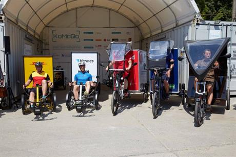 Many operators are based at the Berlin hub, delivering online purchases by cargo bike (PIC LNC GmbH)