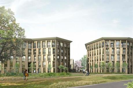 Housing around college courts is proposed as part of the new development [Pic credit: University of Cambridge]