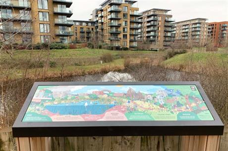 The park includes ponds and water courses that weave around the housing development (PIC Ian Hingley)