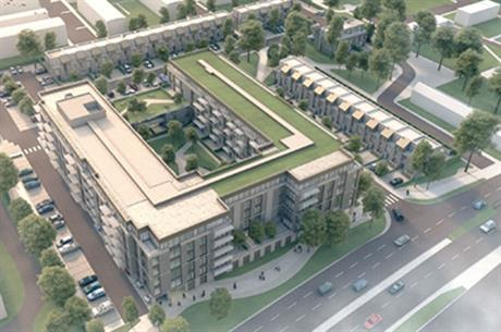 The design for Telereal Trillium's Farnborough scheme includes apartments and townhouses (PIC Telereal Trillium)