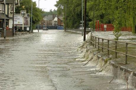 The River Tame in Witton flooded in 2007