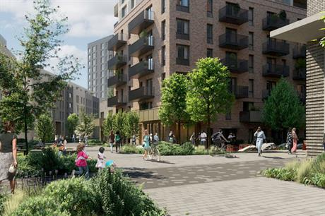 The redevelopment of the Friary Park estate will see the number of homes on the site quadrupled (PIC Catalyst)