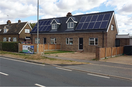 Five homes in Maldon, Essex, have been retrofitted using the Energiesprong method (PIC Gardner Stewart Architects)