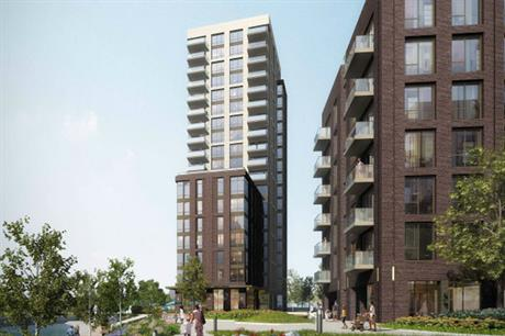 The overall Oldfield Lane North site in Greenford will be developed with 1,965 homes as well as amenities