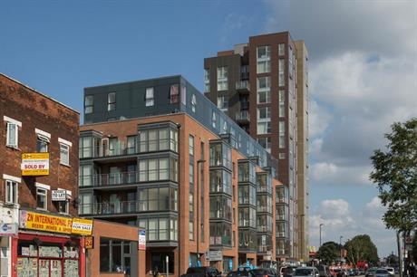 Stepped designs using different housing types can help high rise housing to integrate into the local area (pic Pollard Thomas Edwards)
