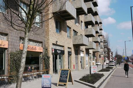 Shops on the main road at Woodberry Down, in Hackney, serve residents and capture passing trade (PIC Ben Kochan)