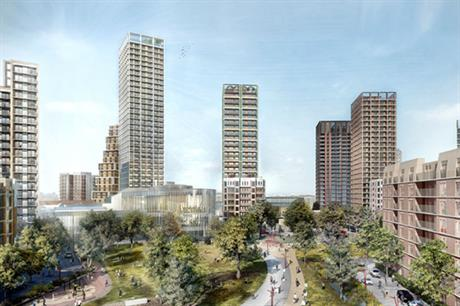 The south west London estate regeneration will deliver homes for a range of tenures, with a park and other amenities (PIC HTA)