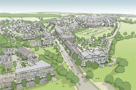 The Graven Hill scheme in Bicester will offer self and custom builders a range of designs [Picture credit: Cherwell District Council]