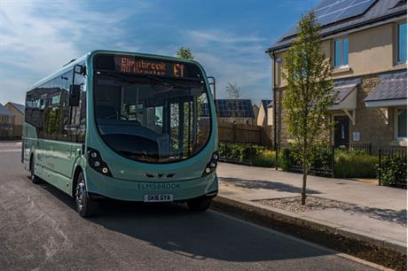 A community bus service was provided as the first homes were occupied in North West Bicester (PIC A2Dominion)