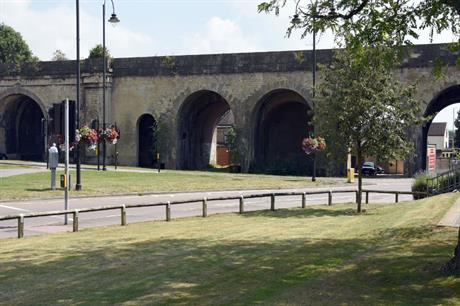 Brunel's distinctive viaduct in Chippenham formed the basis for the Wiltshire town's new logo [Pic credit: Carolyn Brownell]