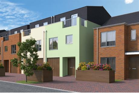 The first scheme delivered by Slough council's partnership with Morgan Sindall includes homes for sale to local buyers (PIC Morgan Sindall)