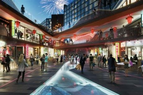 The underground bazaar is modelled on the sunken retail streets in Shanghai [Pic credit: China Development Company]