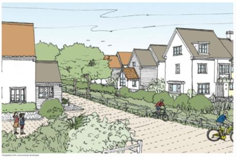 Paths and cycle routes link the housing to the local centres [Picture credit: Broadway Malyan]