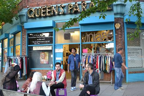 Shops on Queens Parade in Willesden north west London have been turned over for a range of meanwhile uses which have brought new life to the high street. Credit: Meanwhile Space CiC