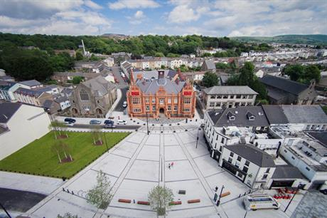 A new square has been created as a focus for the town centre [credit: Merthyr Tydfil County Borough Council]