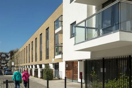 The Packington Estate now includes mews houses and blocks of flats [Pic credit: Pollard Thomas Edwards Architects]