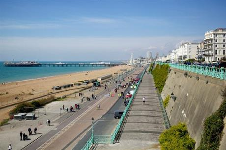 Brighton's Madeira Drive has been closed to allow for safe exercising (PIC Brighton & Hove City Council)