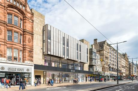 On Edinburgh's Princes Street the former BHS will have modernised ground floor retail with a hotel above (PIC CDA)