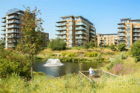 Ponds and lakes on developments, as here at Kidbrooke Park, promote biodiversity (PIC Berkeley Homes)