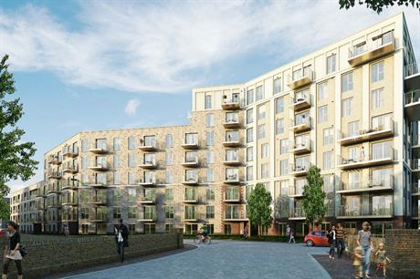 The Catford Green development rises to eight storeys but is complemented by extensive landscaping (PIC Barratt Homes)
