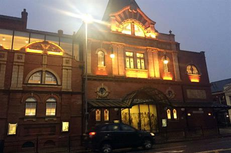 Refurbishment has given the theatre's frontage a modern lighting scheme (PIC Emma Weedon)
