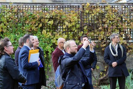 Site visits are an important part of design review, as with the Design Council's Oxford panel (pic Design Council)