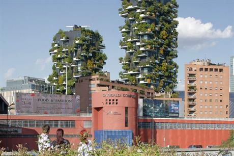 The residential towers of Bosco Verticale in Milan demonstrate the potential for vertical greening (PIC Stefano Boeri Architetti)