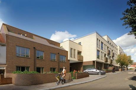 The Leyton housing scheme uses a commercial air source heat pump, as well as individual booster pumps (PIC Galliard Homes)