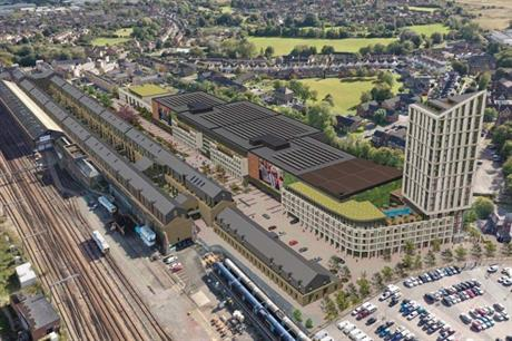 Development is constrained by the operating railway and the access needs of the film studios (PIC Quinn Estates)