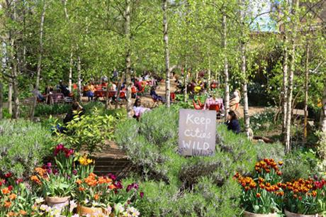There is a focus on community involvement at Dalston Eastern Curve Garden (PIC Dalston Eastern Curve Garden)