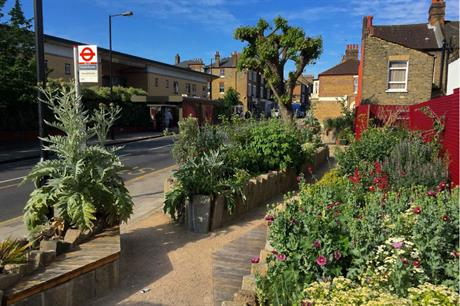 Meeting places like bus stops are ideal locations for pocket parks (PIC Edible Bus Stop)