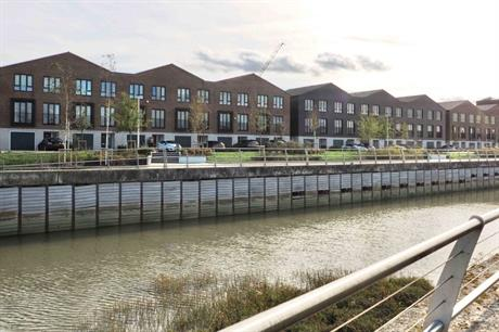 Design of the housing picks up on the site's industrial heritage (PIC Richard Simmons)