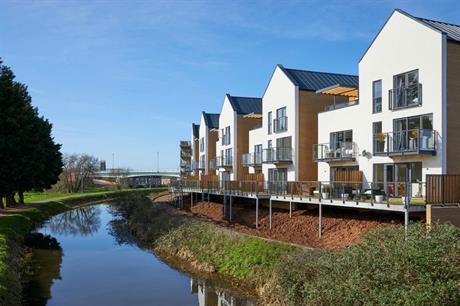 The Firepool Lock development in Taunton, Somerset, takes advantage of its rural setting (PIC Crest Nicholson)
