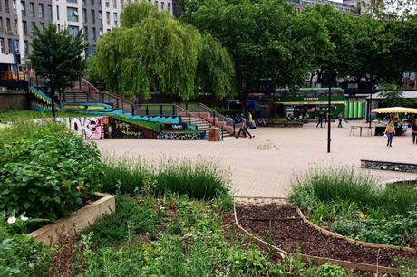Growing spaces can be created in many places, including the centre of a roundabout (PIC Edible Bristol)