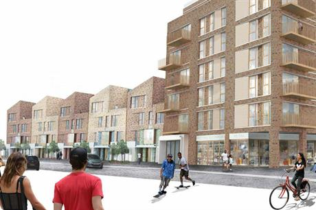 A variety of building heights is planned along Somerleyton Road (PIC Lambeth Council/Igloo)