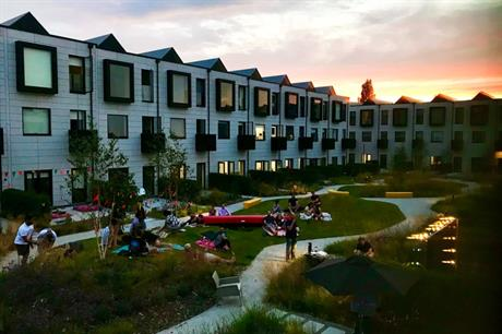 The communal garden is a focus for community activity at Port Loop (PIC Katie Kershaw)