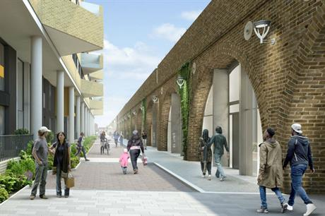 The new housing would be close up against the railway (PIC Pollard Thomas Edwards)