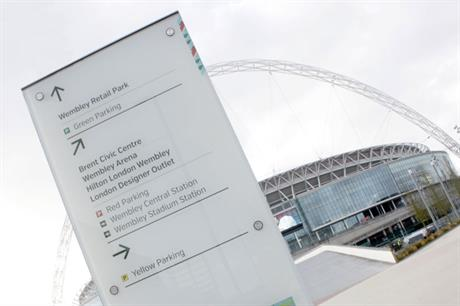 Signage at Wembley Park (Picture credit: Endpoint)