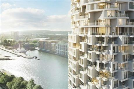 Planned Wood Wharf development