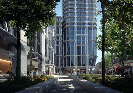 The Vauxhall Cross towers will rise to 53 and 42 storeys (PIC Zaha Hadid Architects/Render by Slashcube)