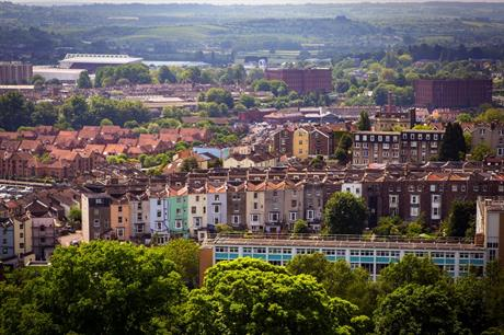 How does Bristol plan to meet its target to double the city's tree canopy cover?