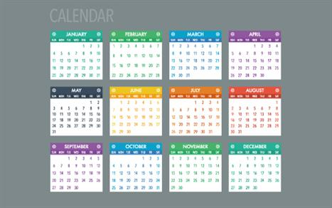 Annual calendar of practice management