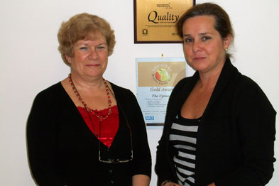 Dr Griffin (left) and Mandy Thorn, owner of Uplands nursing home, work together to improve care