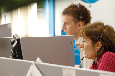 NHS Direct call centre: values GP out-of-hours services (Photograph: NHS Direct)