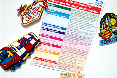 The fridge magnet was designed to reach 41,000 patients in a PBC cluster
