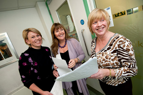 Jayne Wilkie, Tina Atkins and Dr Diane Exley from Brownlow Health (Photo: UNP)