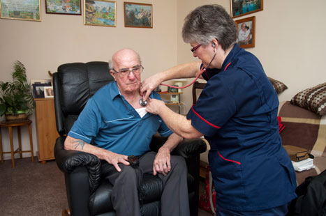 Integrated, multi-disciplinary care enables better management of patients in their own homes (Picture: Blend Images/Rex)